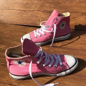 converse pink high tops size kids  3